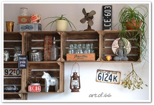 Obstkisten-Regal - wooden crates