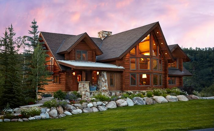 Cabin Meets Contemporary In Steamboat Springs Colorado Homes Lifestyles Log Cabin Homes Modern Log Cabins Colorado Homes