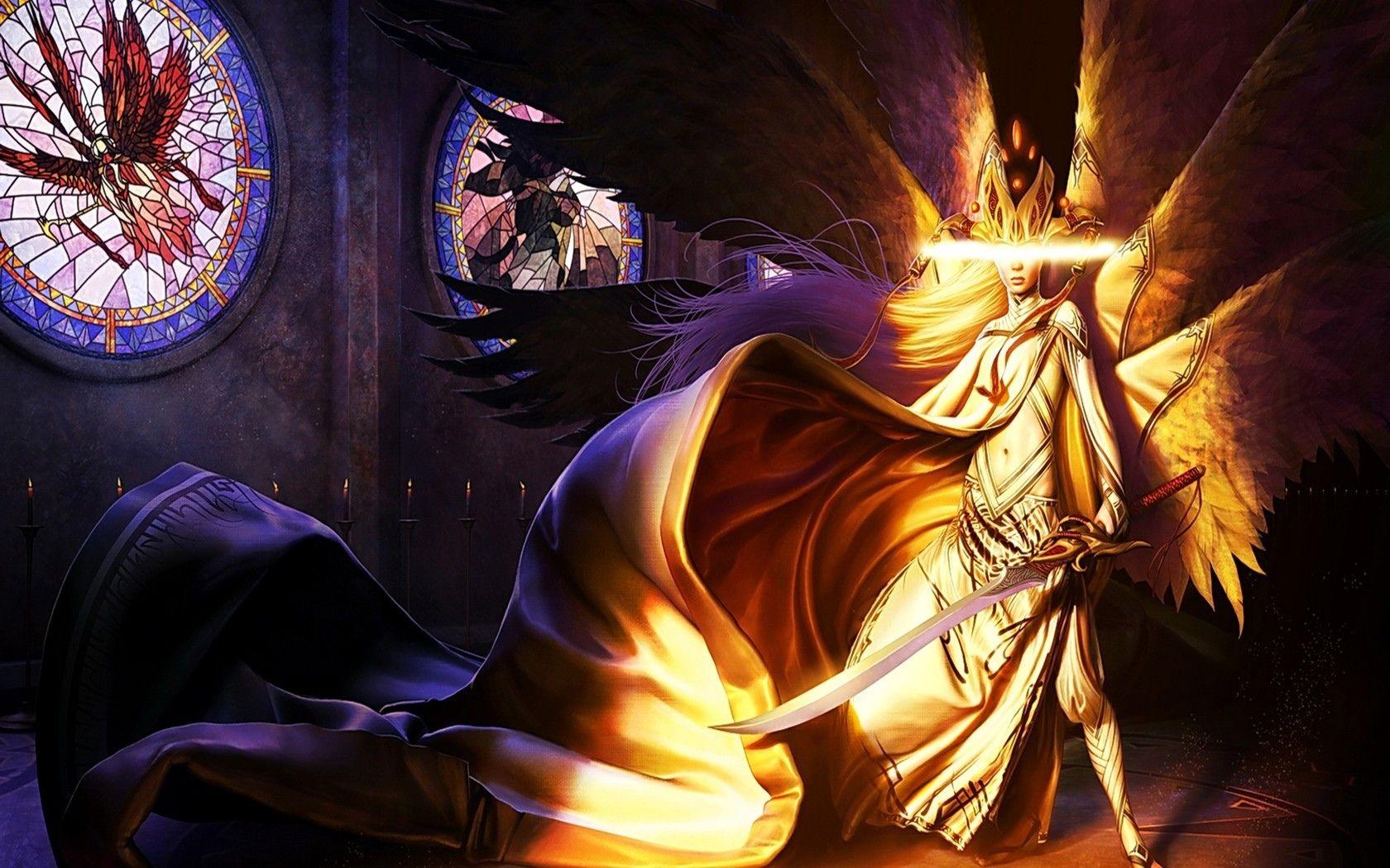 Fantasy Angel Warrior Dark Fairy Wallpaper