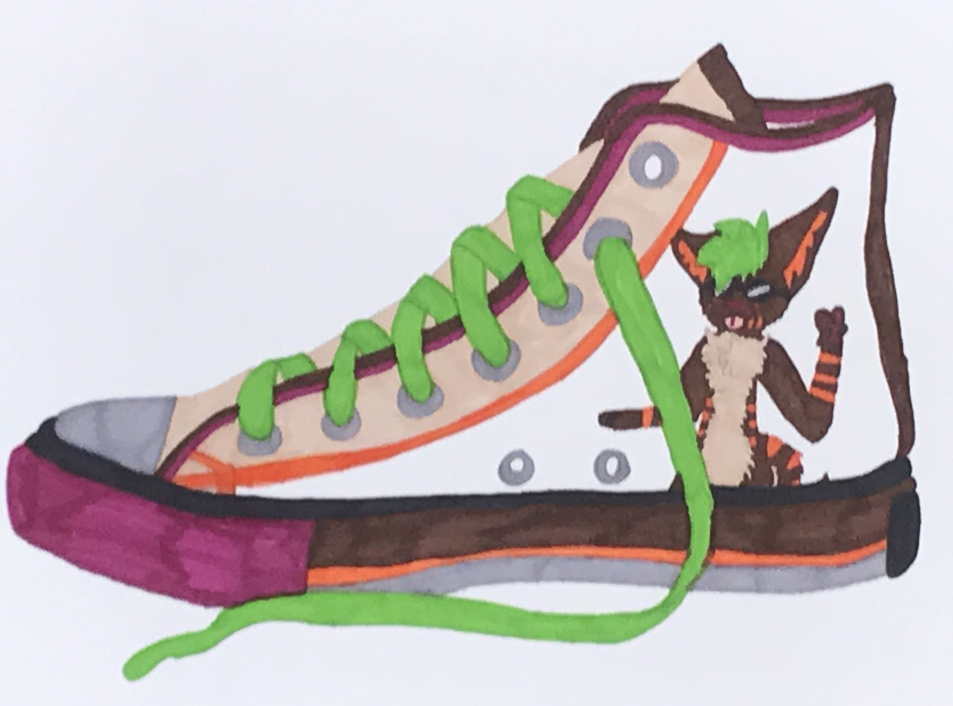 6e4c8a2afae7 Students at Corsicana Middle School design their own shoes. Design Your Own  Shoe Art Lesson