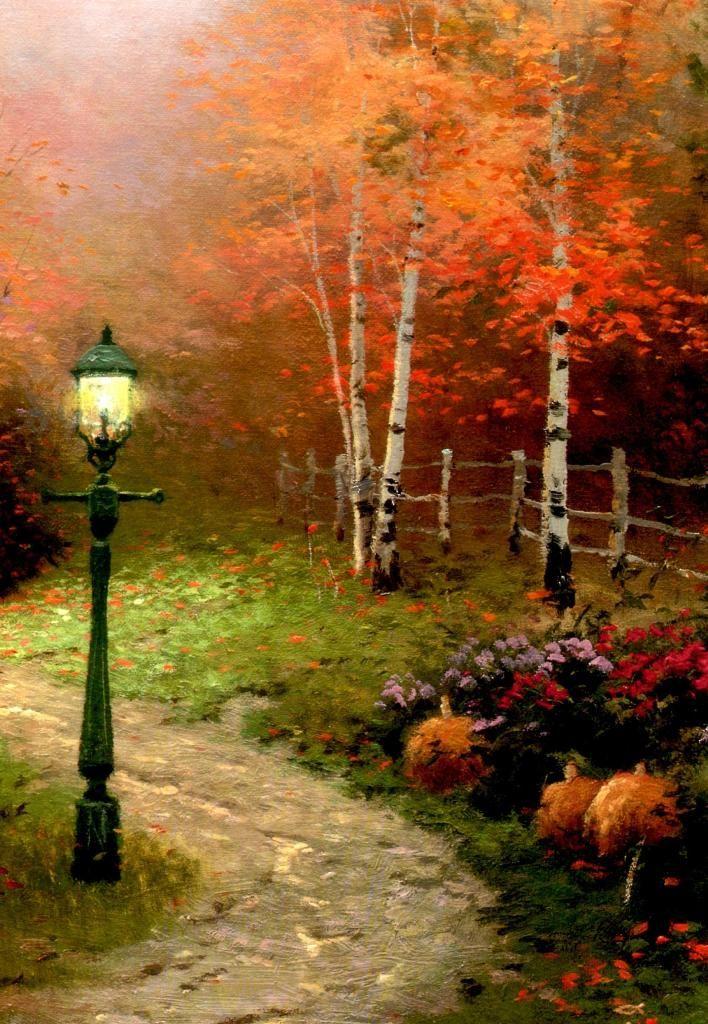 Thomas Kinkade Victorian Autumn