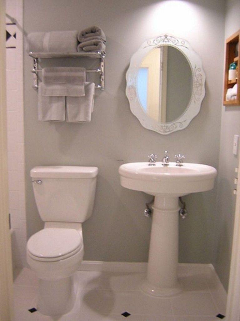 25 Beautiful Small Toilet Design Ideas For Small Space In Your Home Small Bathroom Decor Small Bathroom Diy Simple Bathroom Designs