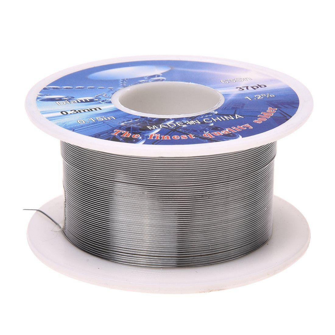 Solid Solder 0 3mm Dia Flux Core 63 Tin 37 Lead Long Wire Reel Affiliate Wire Reel Welding Wire Soldering