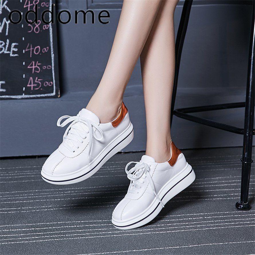 Wiosna Jesien Nowe Kliny Dla Projektantow Biale Sznurowane Platformy Trampki Damskie Vulcanize Buty Tenis Femi Womens Sneakers Stylish Sneakers Lacing Sneakers