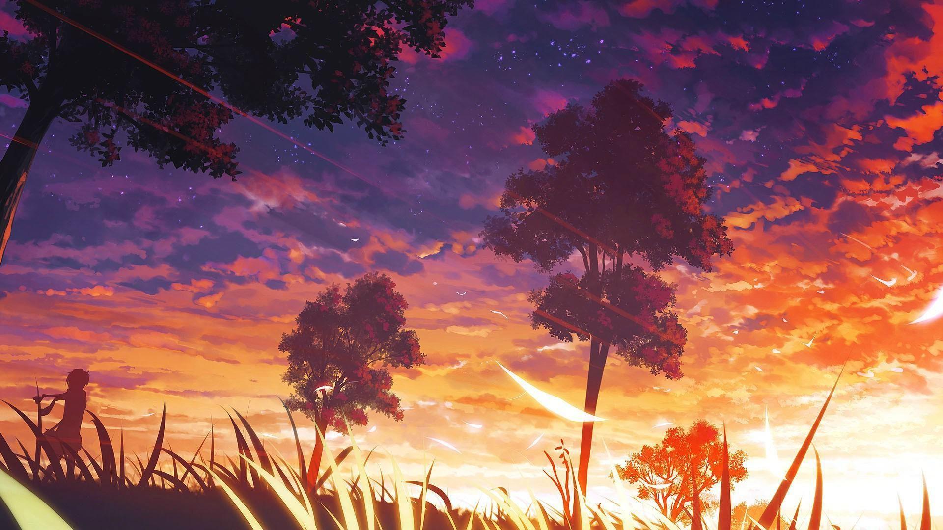 60 Anime Sunset Wallpapers Download at WallpaperBro