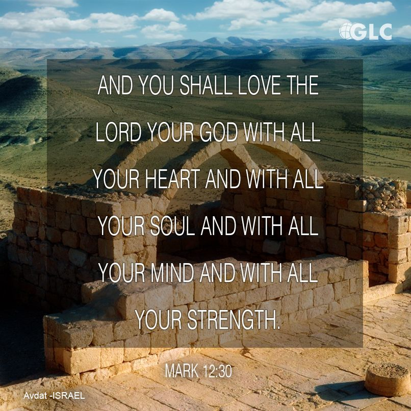 Mark 12:30 And you shall love the Lord your God with all