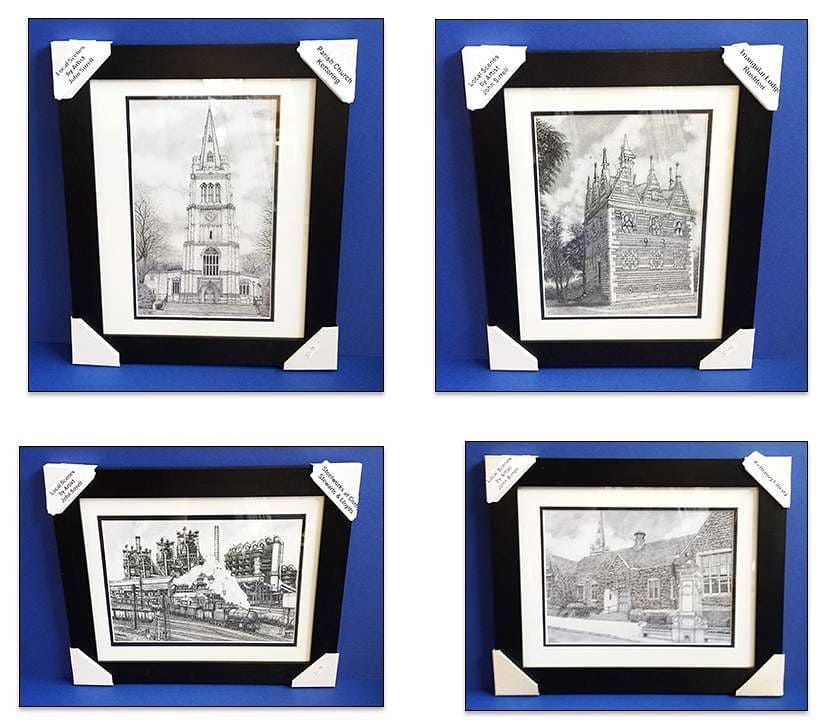 Framed prints of local scenes and landmarks by artist John Sirrell ...