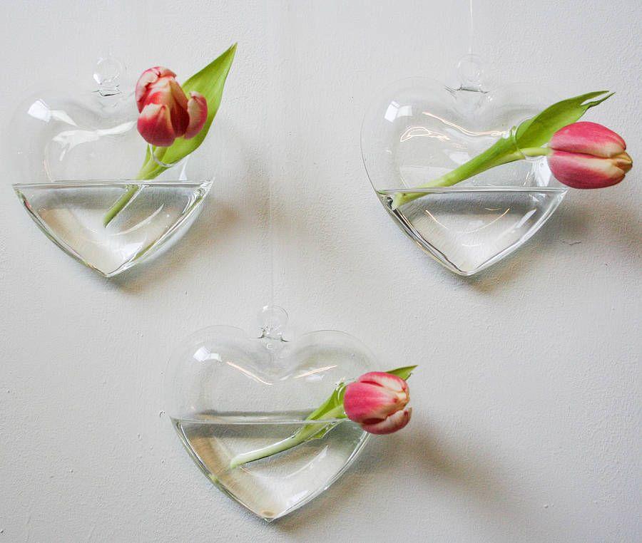 Two Hanging Heart Vases Bedroom Pinterest Hanging Hearts