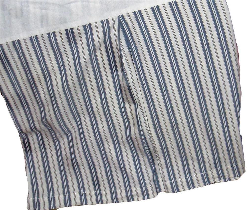 Pottery Barn Classic Ticking Stripe Bed Skirt Dust Ruffle