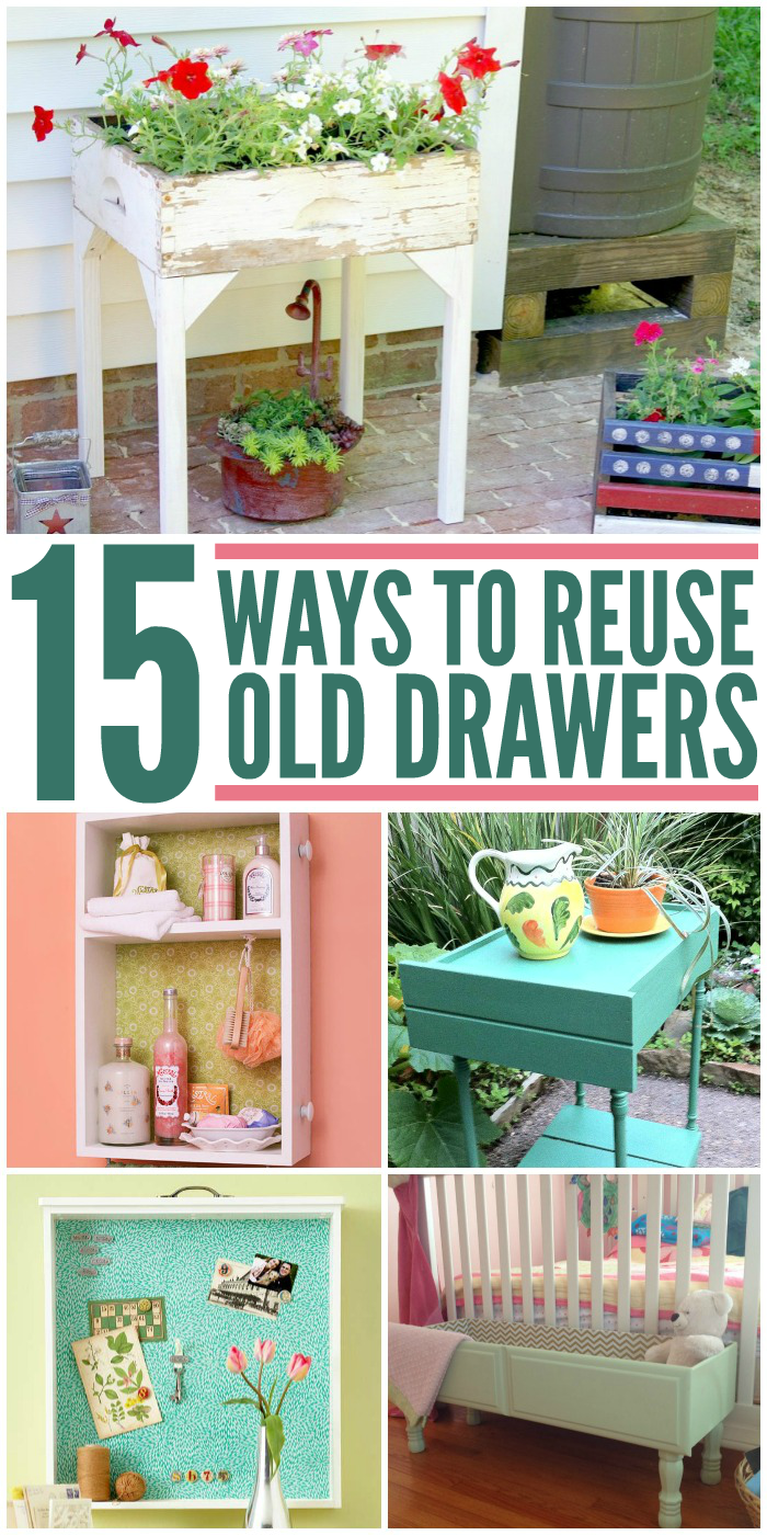 15 Smart Ways to Reuse Old Drawers Old drawers, Diy