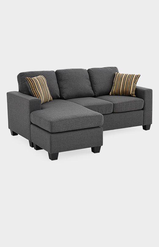Divan Sectionnel En Tissu Gris P00331696 Sectional Couch Home Home Decor
