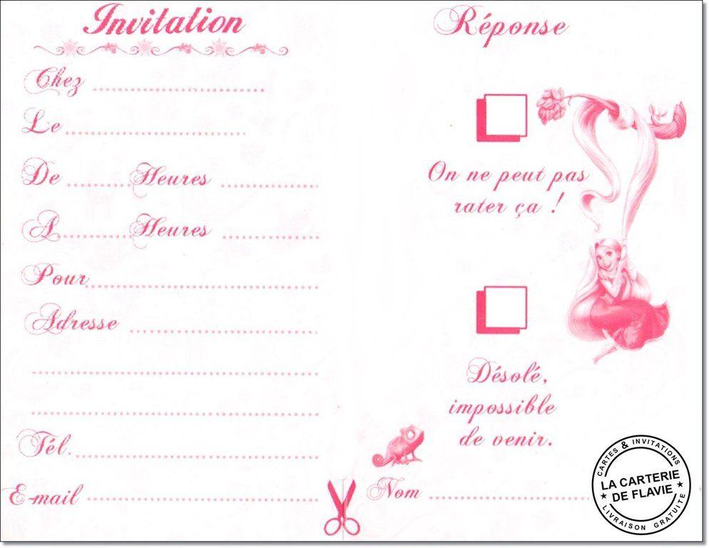 invitation anniversaire disney raiponce