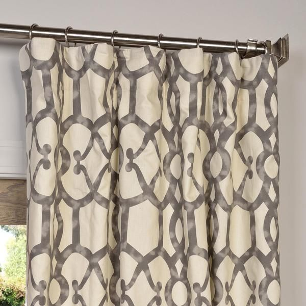 Exclusive Fabrics Ashford Printed Cotton Curtain Panel by