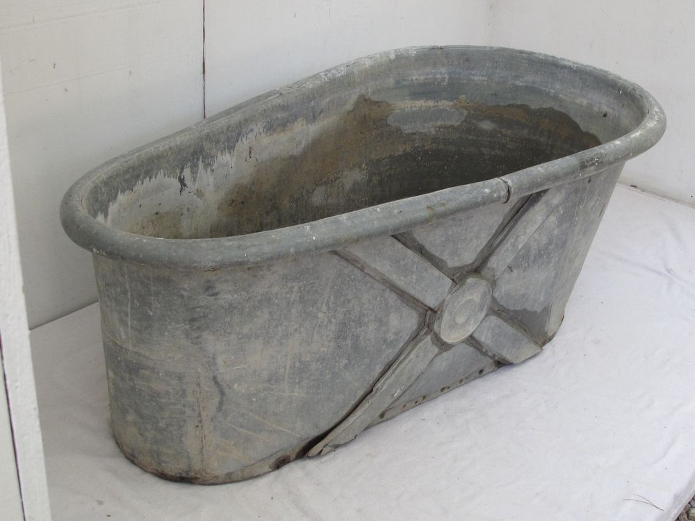 antique french zinc bathtub napoleonic style | bathrooms in 2019