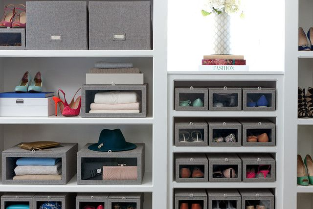 Drop Front Shoe Boxes And Sweater Storage Boxes For Closets   The Container  Store