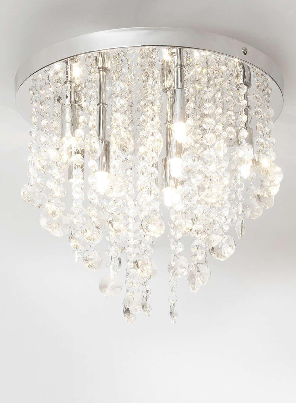 Iris Crystal Flush Light - BHS   Home ideas   Pinterest   Bhs ...