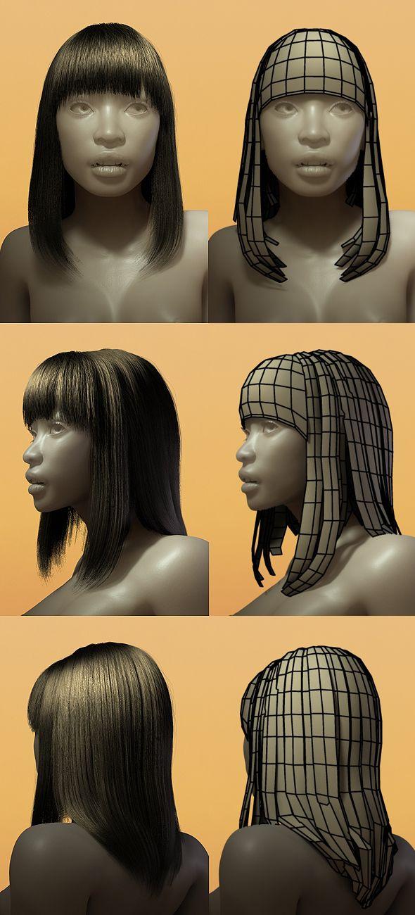 Female Hair Style 001 3docean Item For Sale Cg Tutorials In 2019