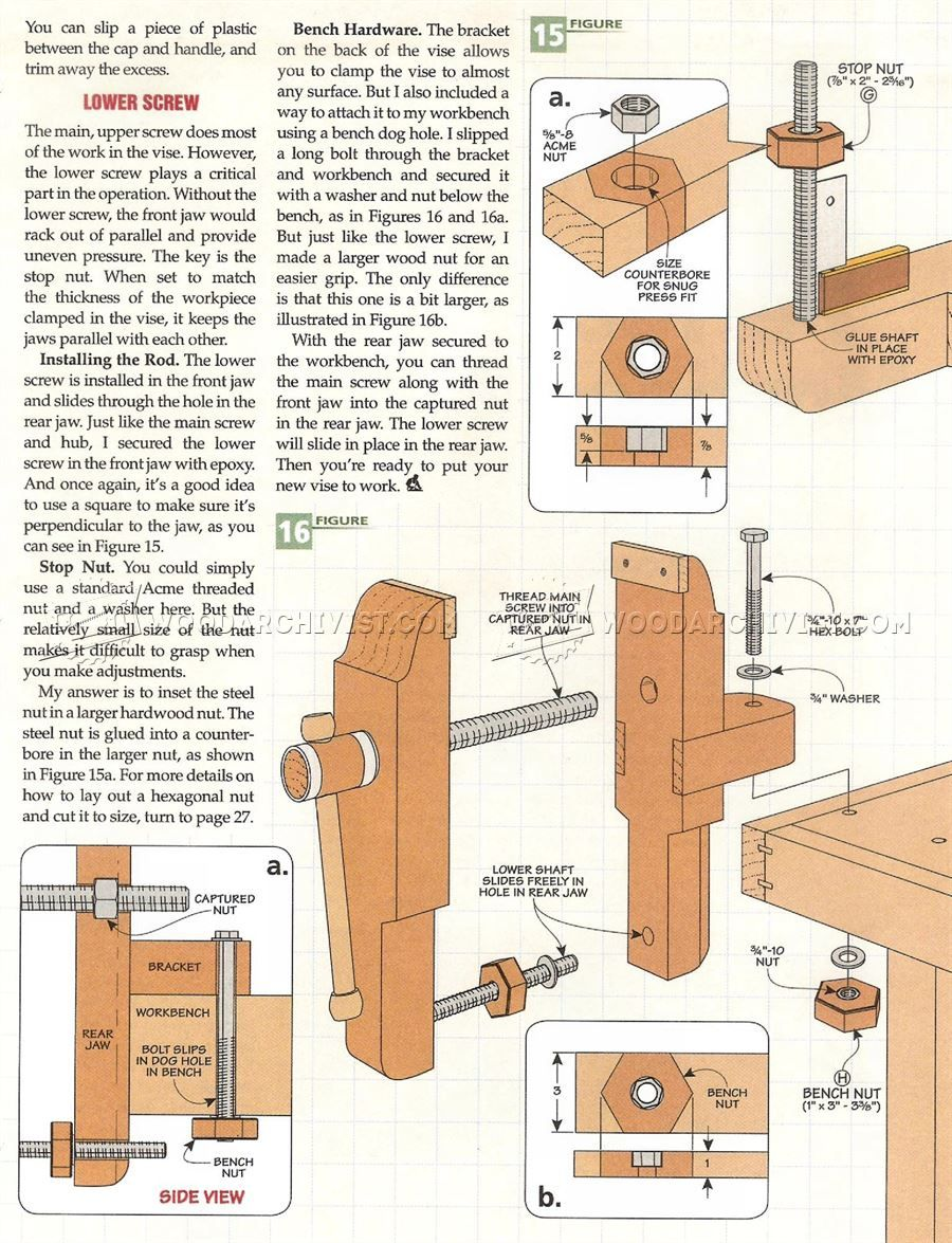 2256 Bench Vise Plans Workshop Solutions Cuero Pinterest