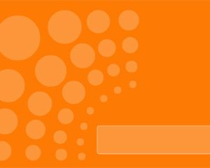 Free Orange Dots Power Point Template With Small Bubbles And