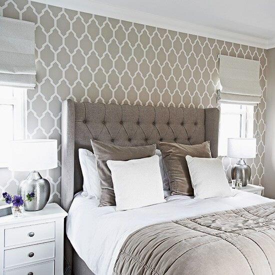30 Best Bedroom Wallpaper Ideas Home Decor Ideas Uk Feature Wall Bedroom Bedroom Interior Grey Wallpaper Bedroom