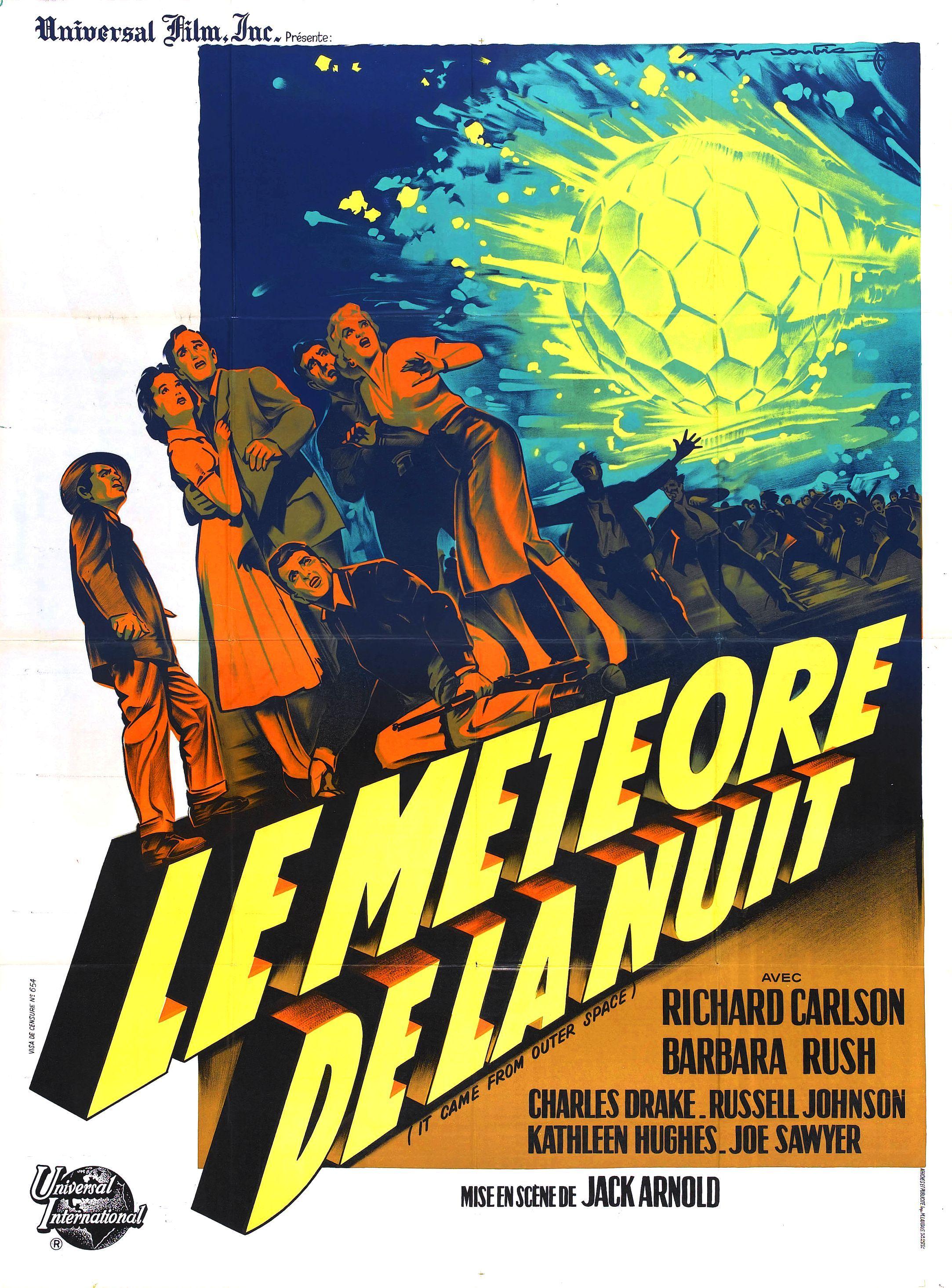 Le Meteore De La Nuit Vintage Sci Fi Film Poster