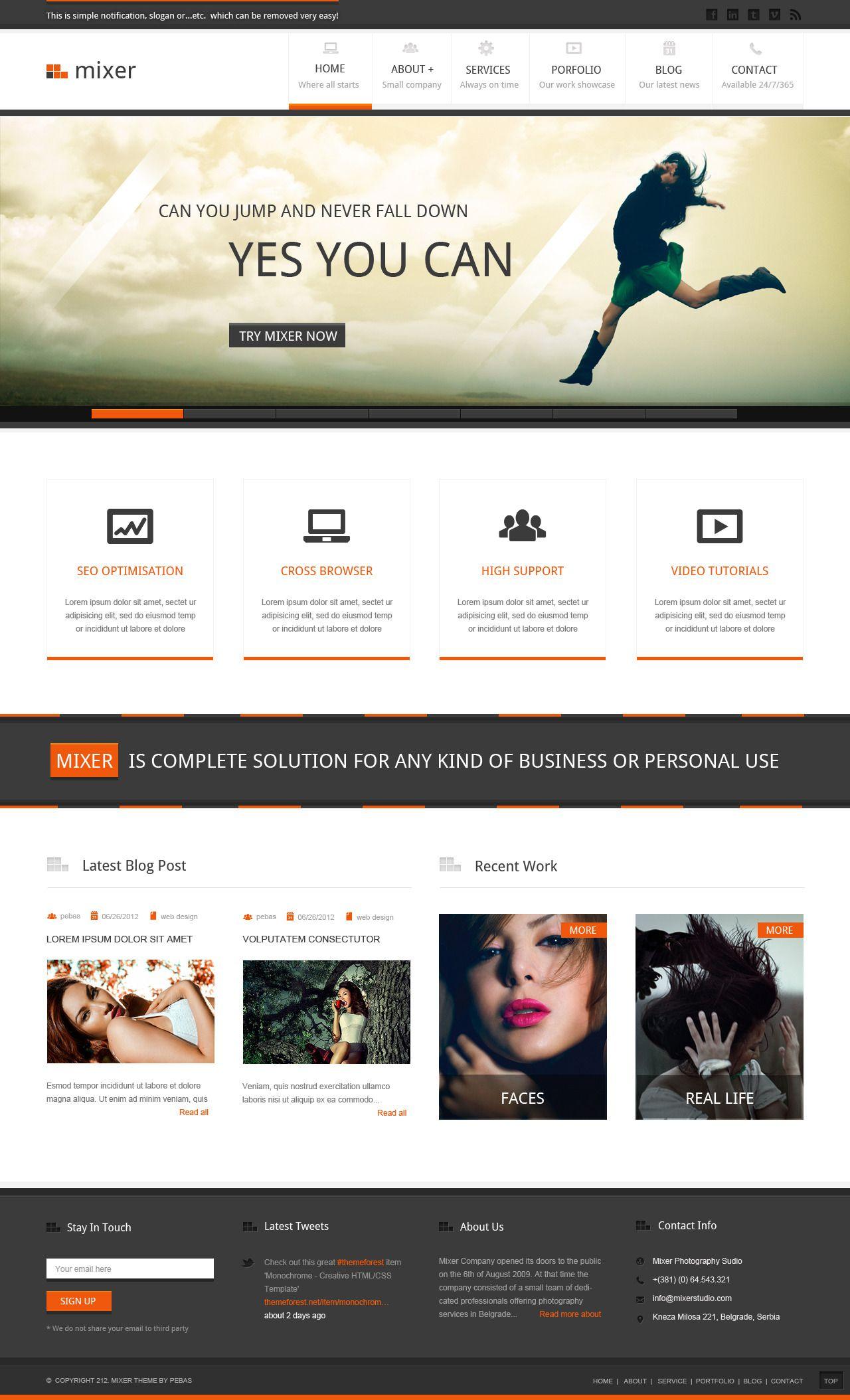 simple corporate web design - Simple Website Design Ideas