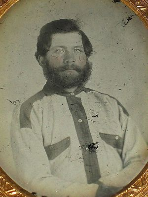 RARE 6th plt Ambrotype Civil War Confederate Battle Shirt 17th Texas | eBay