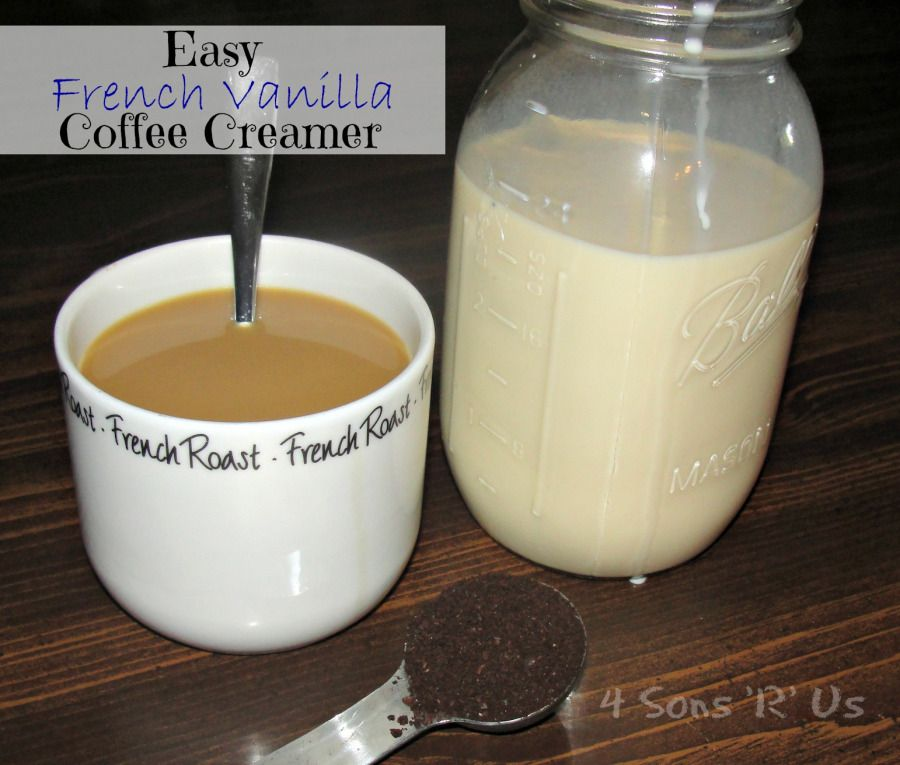 Homemade French Vanilla Coffee Creamer #frenchvanillacreamerrecipe
