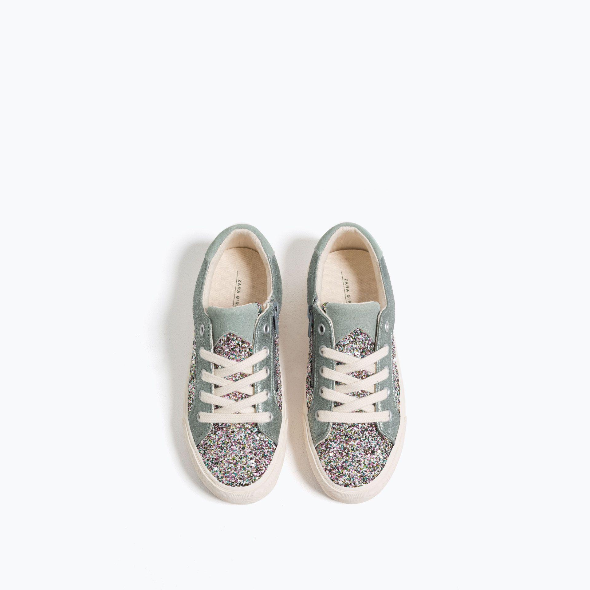 Blyszczace Tenisowki Buty Dziewczynka 4 14 Lat Dzieci Zara Shoes Sneakers