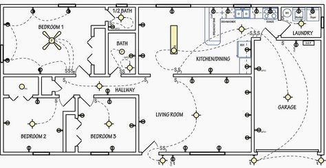electrical symbols are used on home electrical wiring plans in orderElectrical Plan Drawing Images #17