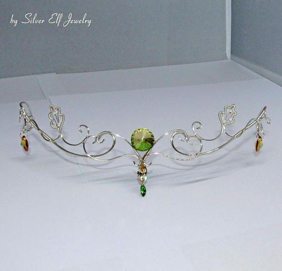 Elven Princess tiara, Elven crown, elvish jewelry for fantasy lovers ...