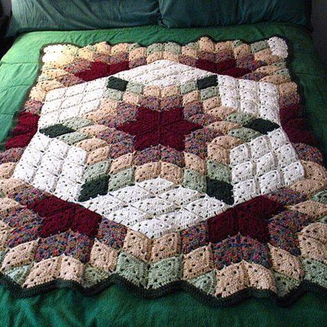 Free Pattern; Red Heart; crochet; Prairie Star Blanket | suzy 2 ...