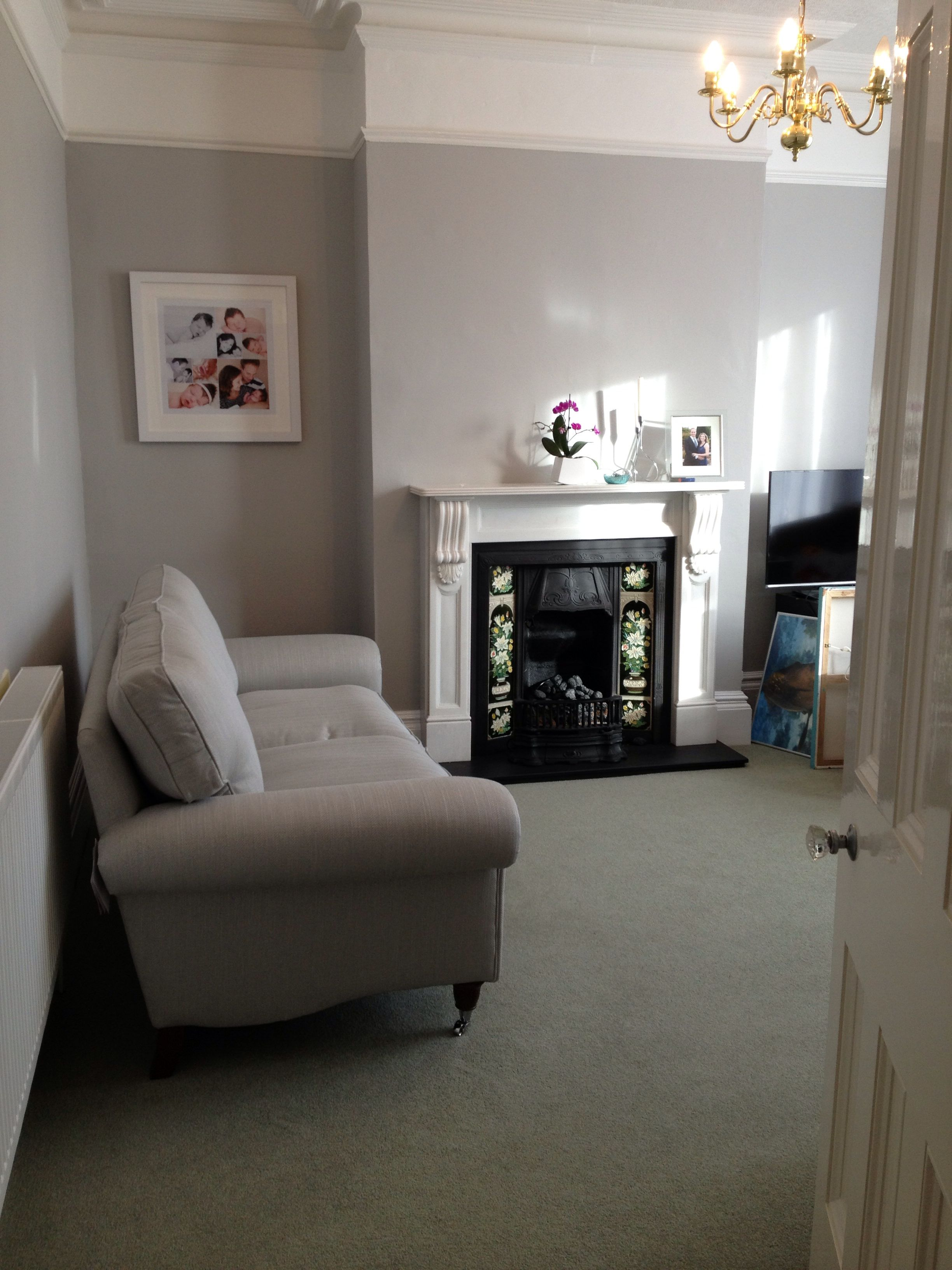 Finally my new sitting room coming together loving my - Grey paint living room ...