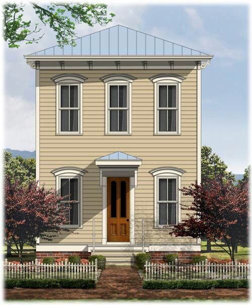 Itlianate Greek Revival Home Narrow Lot House Plans House Design