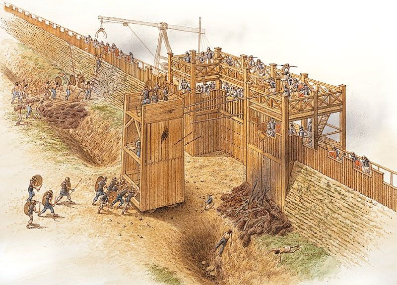 """""""The defence of the fortress at Vetera (Xanten), AD 69""""   Brian Delf"""