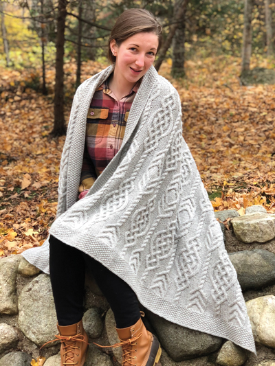 Celtic Traveler Throw Knit Pattern in 2020   Knitted ...