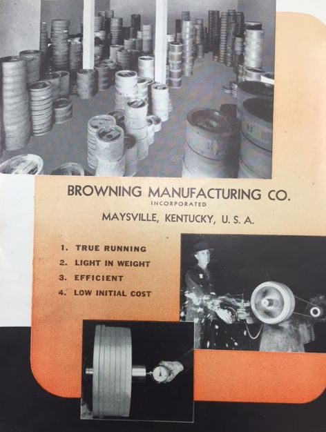 Browning Wood Pulley Manufacturing