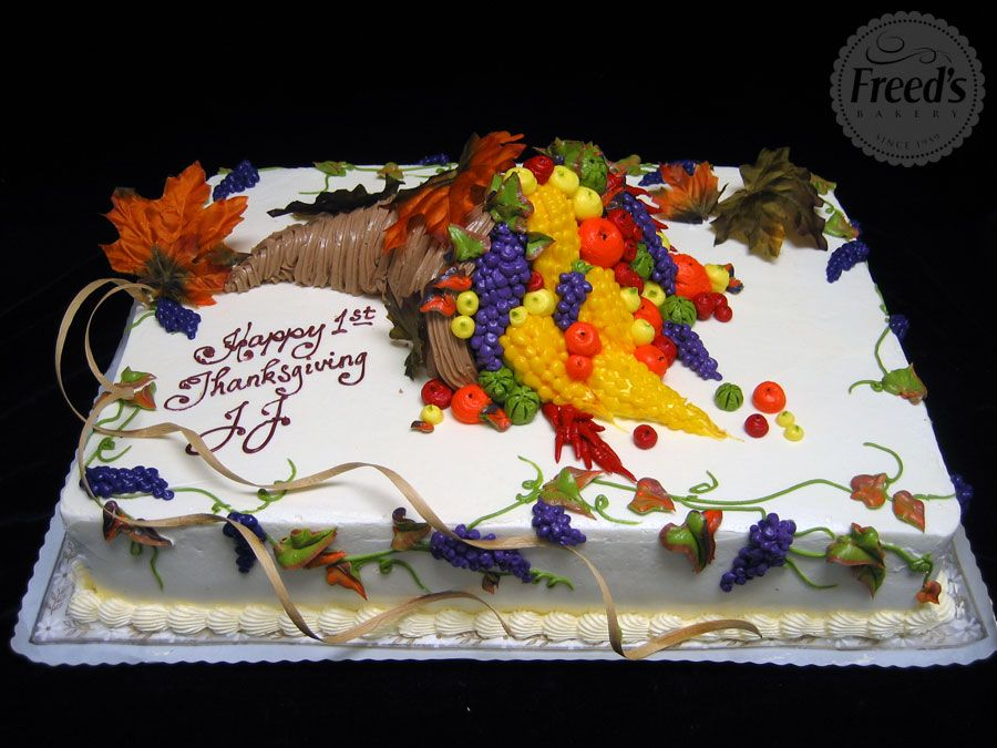 Cornucopia Cake For Thanskgiving Happythanksgiving With Images