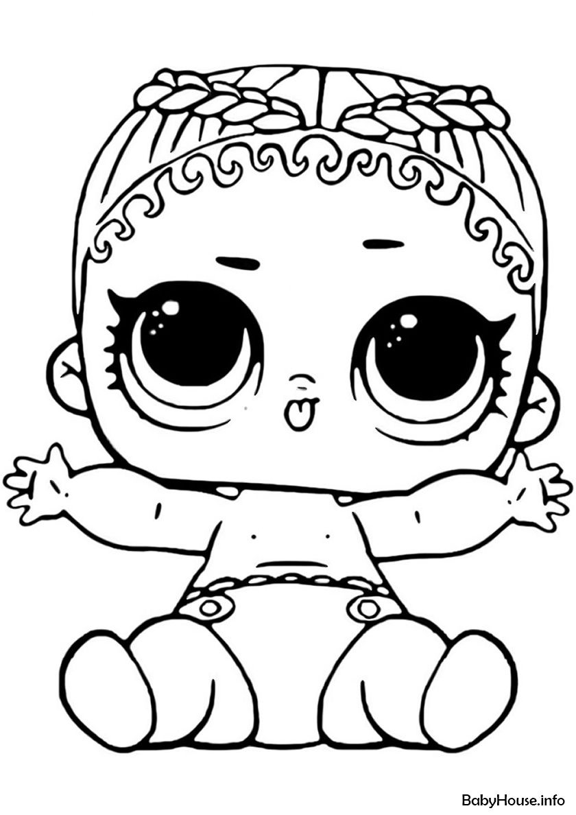 Lil Coconut Q T High Quality Free Coloring From The Category L O L Lil Sisters More Printable Pi Cartoon Coloring Pages Coloring Pages Cute Coloring Pages