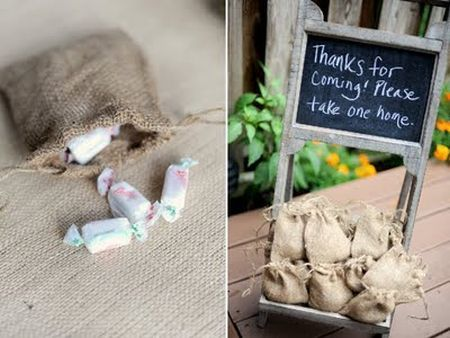 Burlap 80th birthday party favors See more favor and party ideas