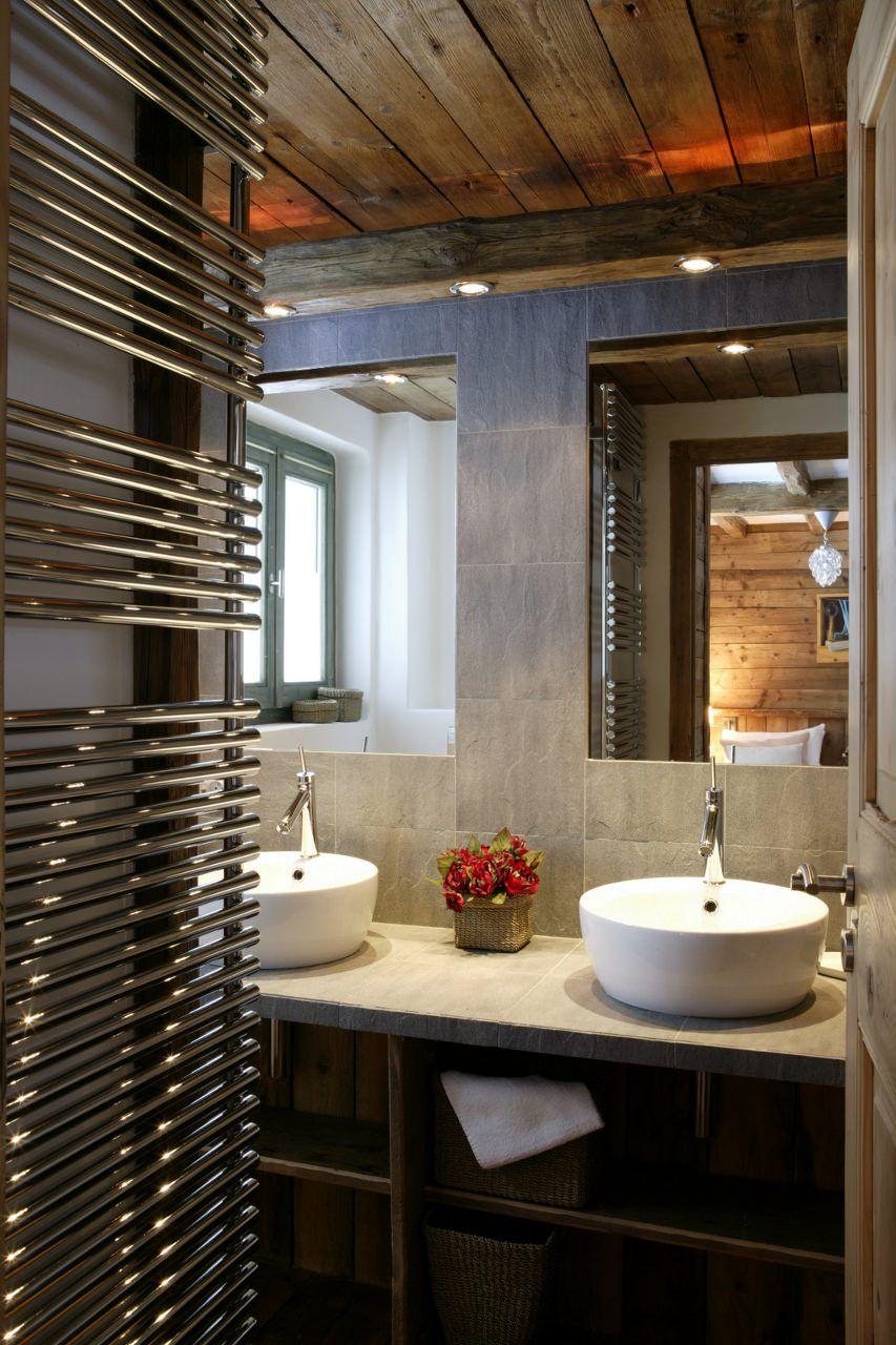 Dorf badezimmer design chalet pauline val duisere  maison en bois  pinterest  reiseziele