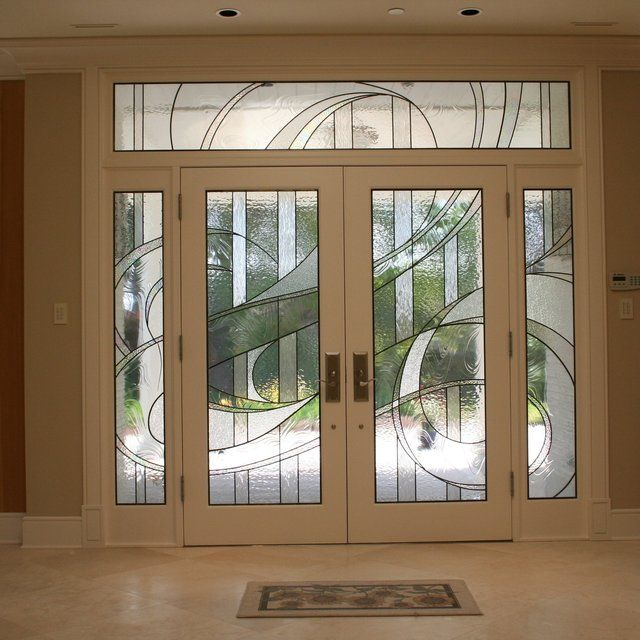 Contemporary Stained Glass Entry Contemporary Entry Doors Entry Doors With Glass Modern Stained Glass