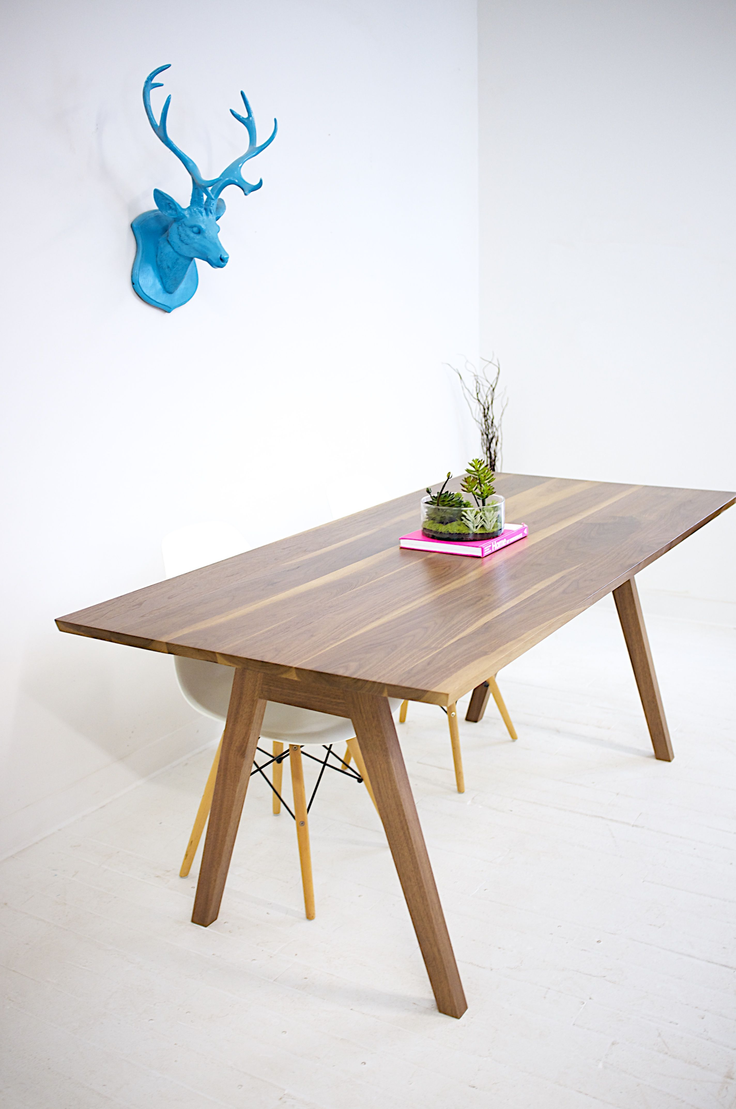 Modern Dining Table Midcentury Modern Table Walnut Dining Table Kitchen