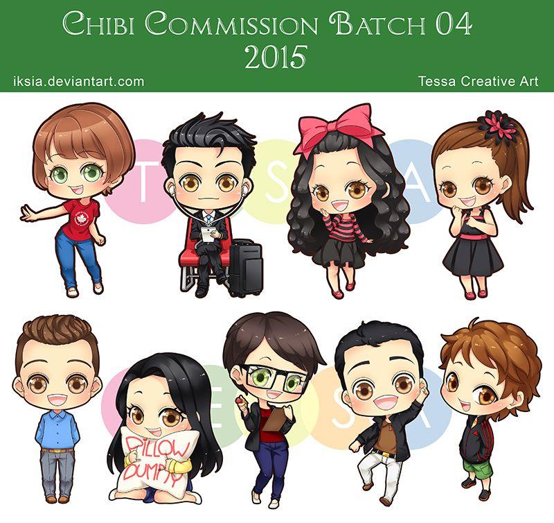 Chibi Commission Batch (With images) Chibi, Cute chibi