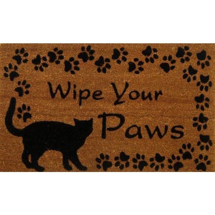 Cat Doormat - Coir Mat - Wipe Your Paws  sc 1 st  Pinterest & Cat Doormat - Coir Mat - Wipe Your Paws | door mats | Pinterest ...