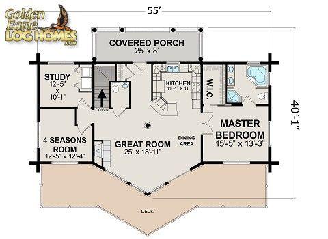 Golden Eagle Log Homes Floor Plan Details Ski Home Prow 1418ar Log Home Floor Plans Cabin Kits Floor Plans Log Cabin Floor Plans