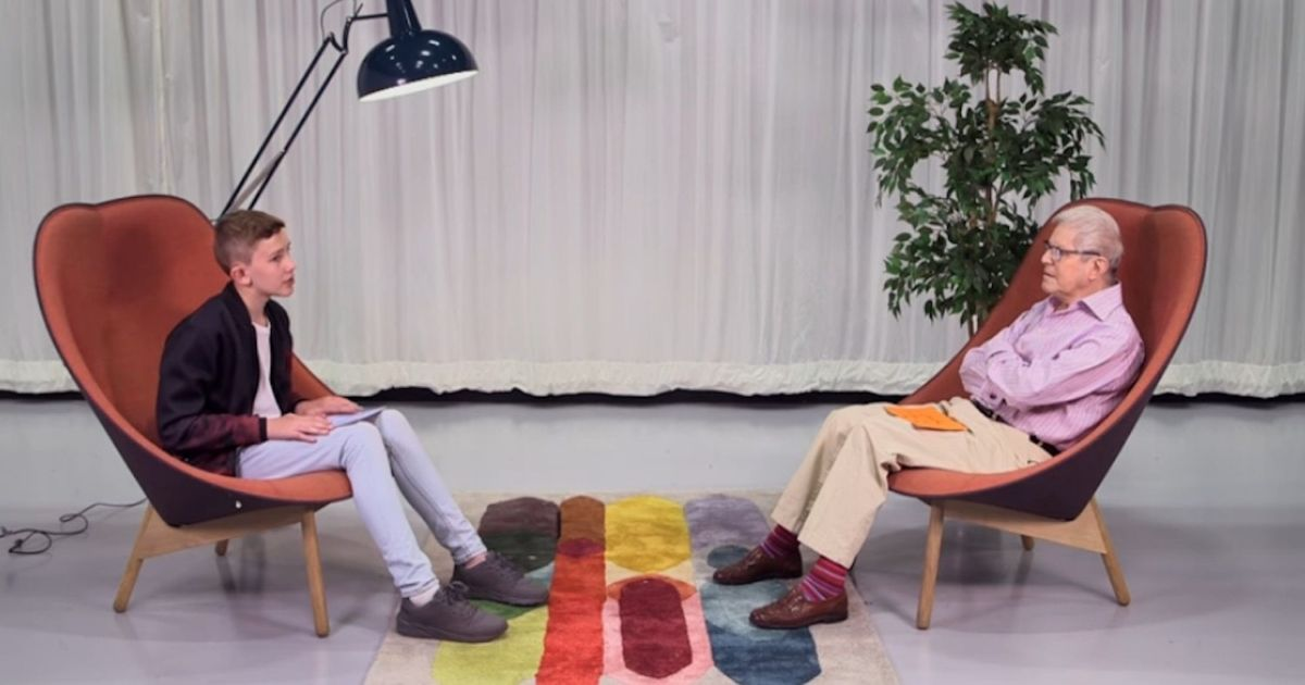 A 78-year-old man and a 13-year-old boy sat down to talk