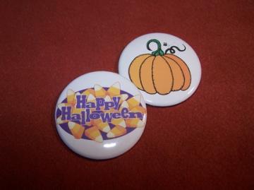 Halloween Button Set by PortableGraffiti for $3.00