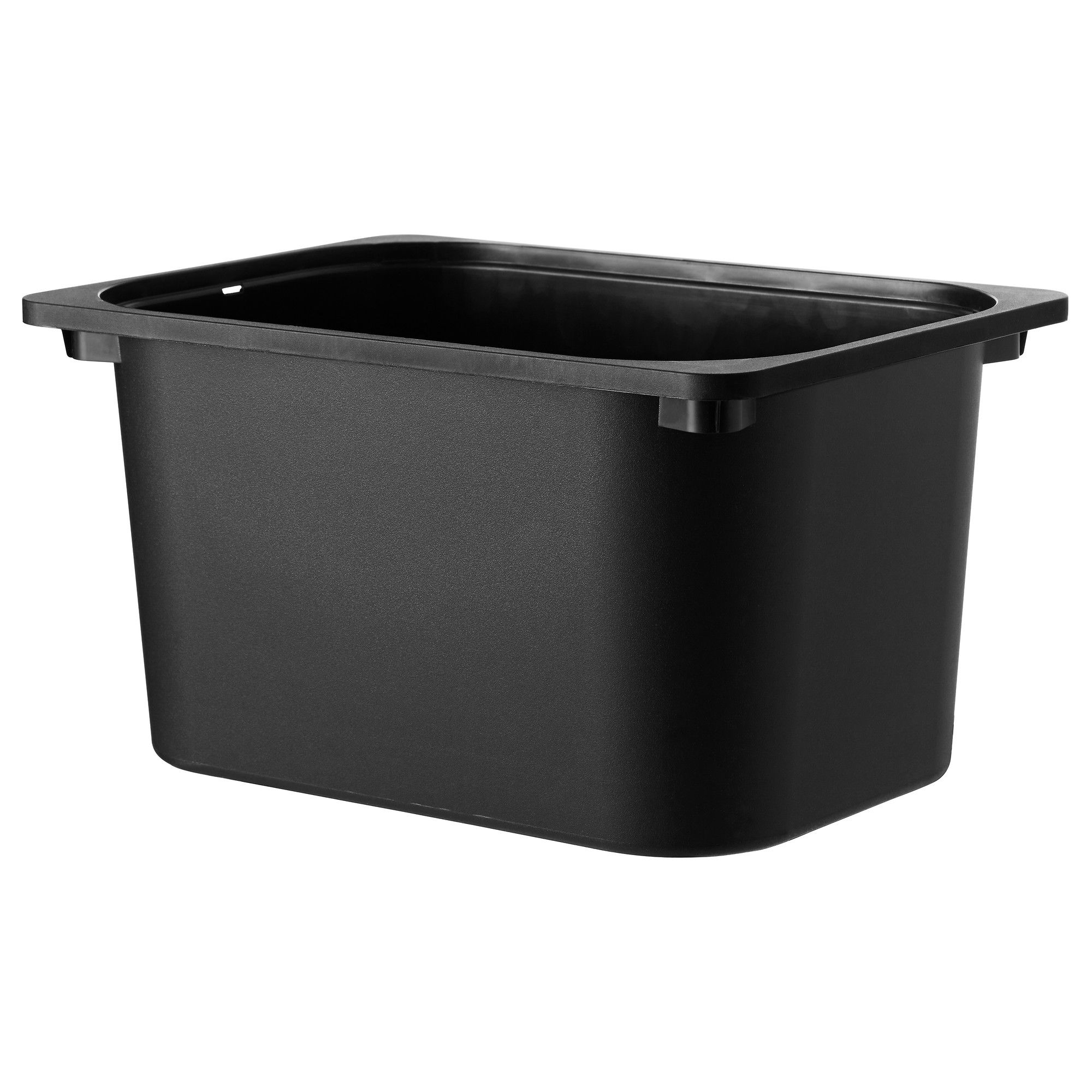 Ikea Trofast Storage Box Black 16 ½x11 ¾x9 Fits In Frames Can Be Stacked When Completed With A Lid