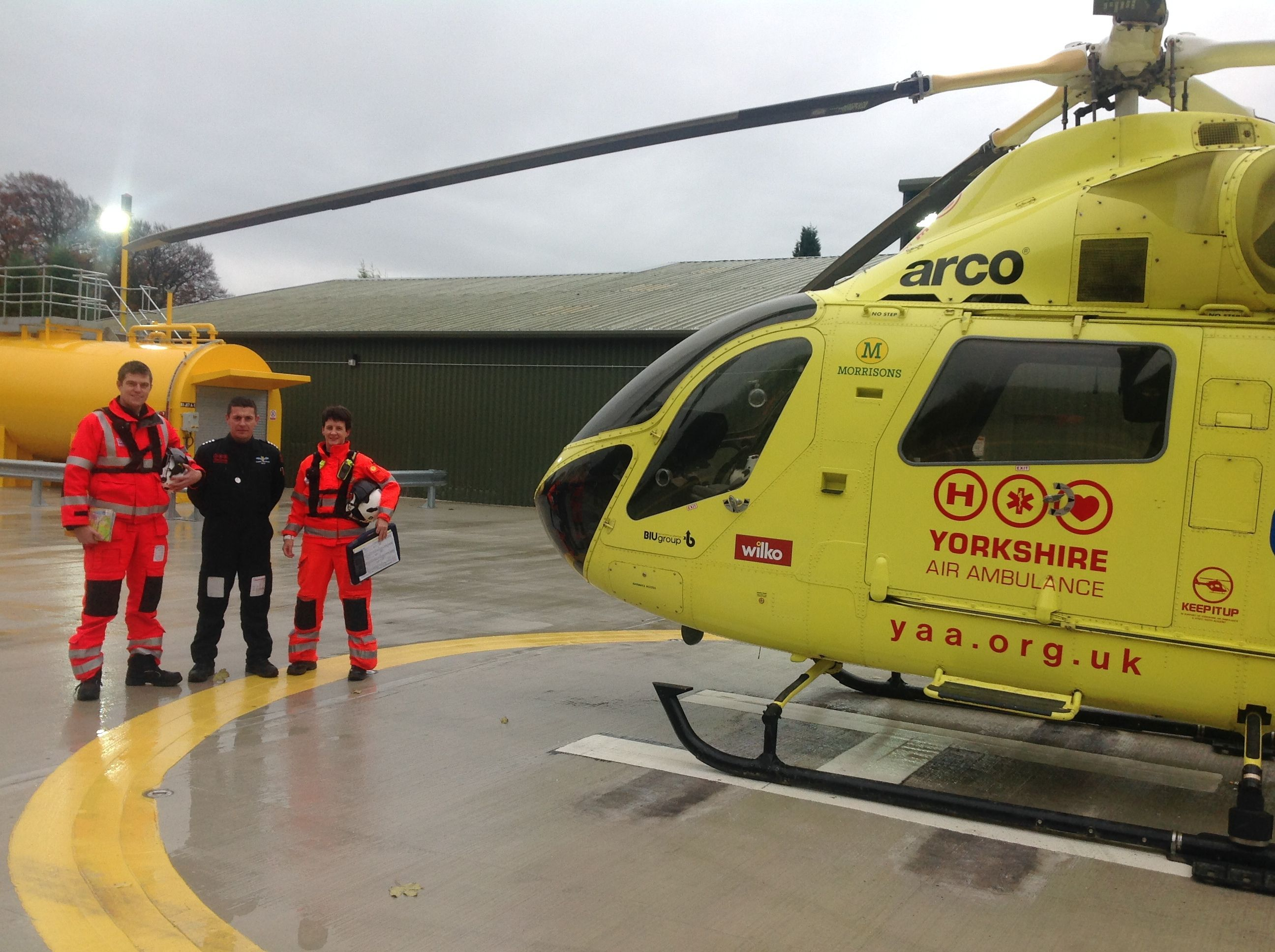Another photo from our new Air Support Unit at Nostell